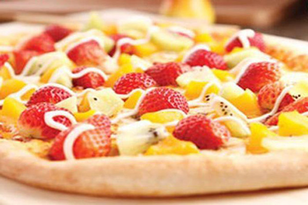 掌上创意披萨